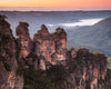 Sunrise at Three Sisters, Australia, Mountains, Pink Orange, Morning