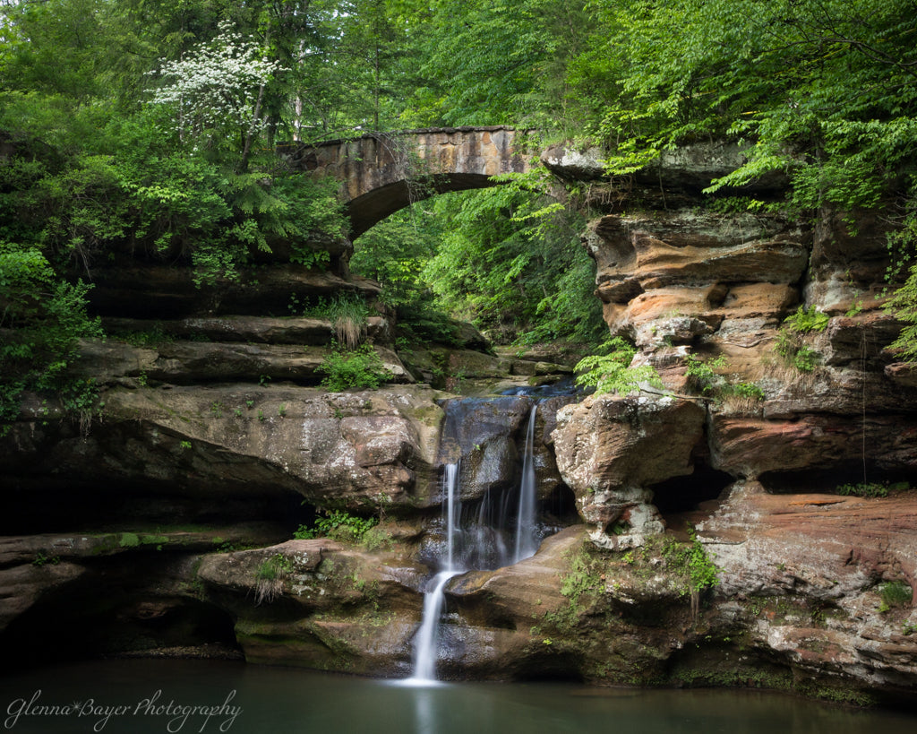 Upper Falls in Spring at Old Man's Cave in Ohio