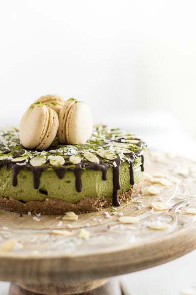 High Protein Matcha Faux Cheesecake