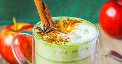 Apple Oat Matcha Latte