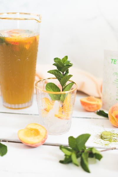 Matcha & Peach Summer Mocktail