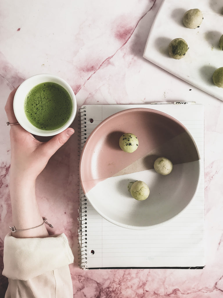 Matcha Milk Balls Teangle