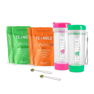 Teangle Bestie Pack Pink & Green Bottle