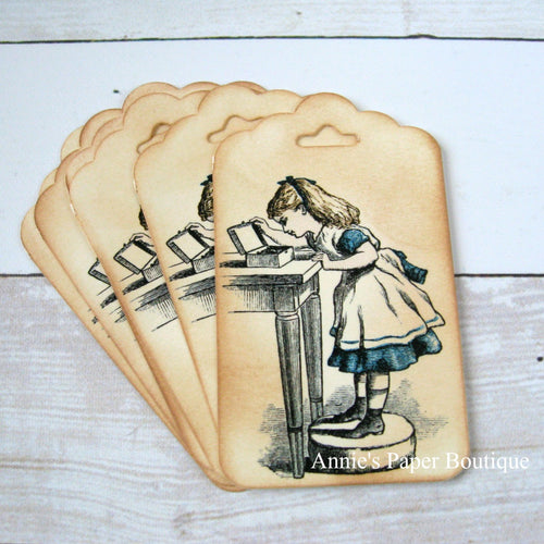 Alice In Wonderland Vintage Inspired Tags