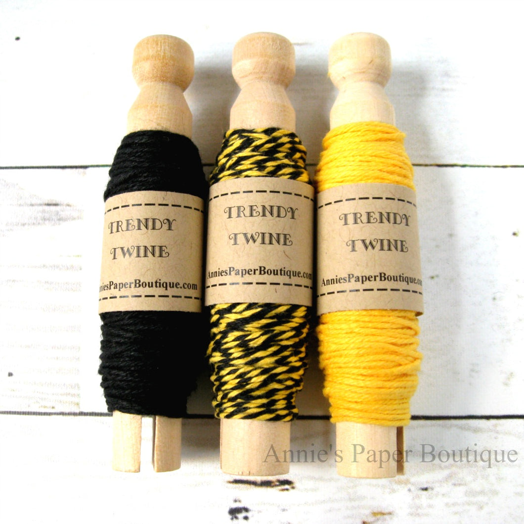 Yellow and Black Trendy Bakers Twine Sampler
