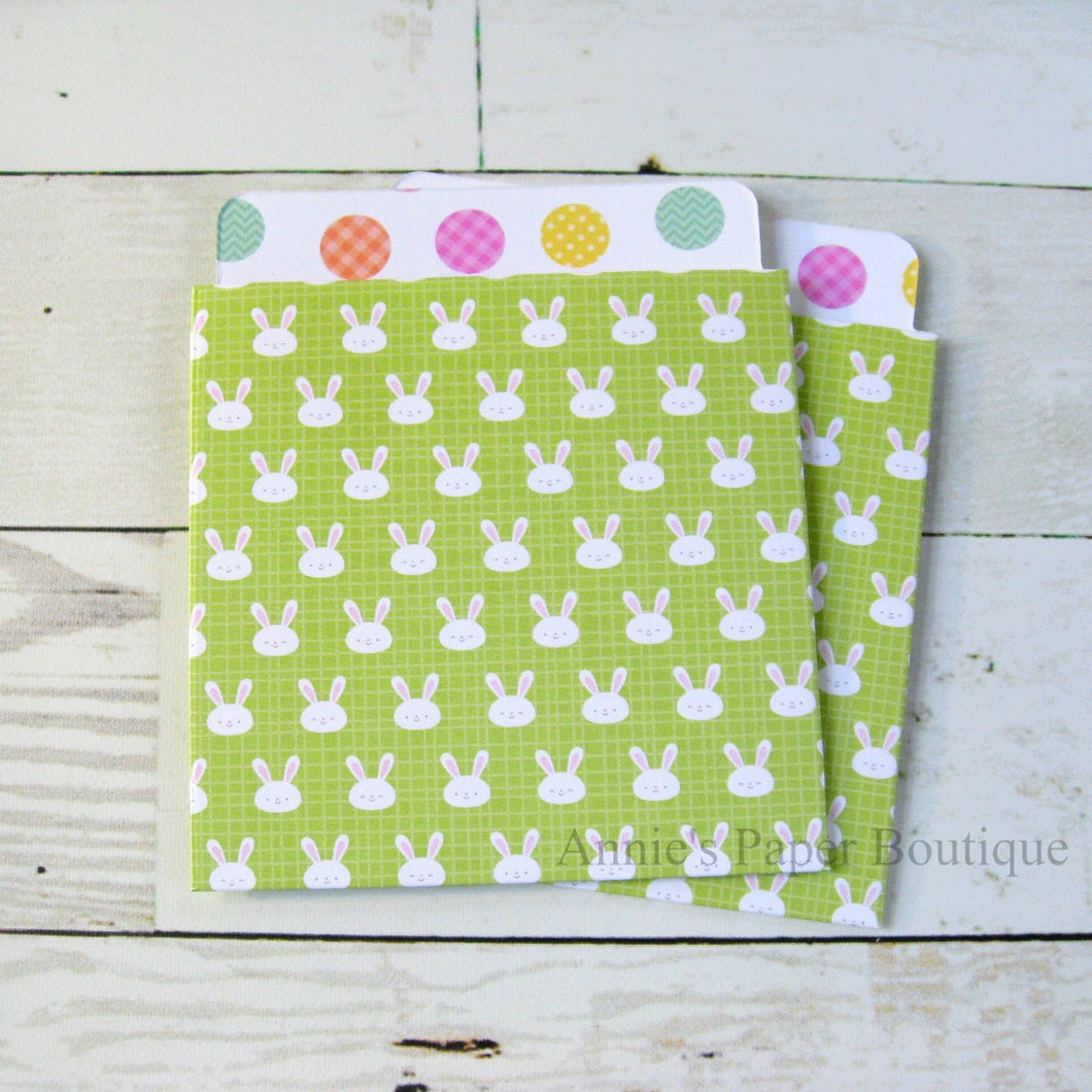 Bunny & Eggs Library Pockets - 3-1/2