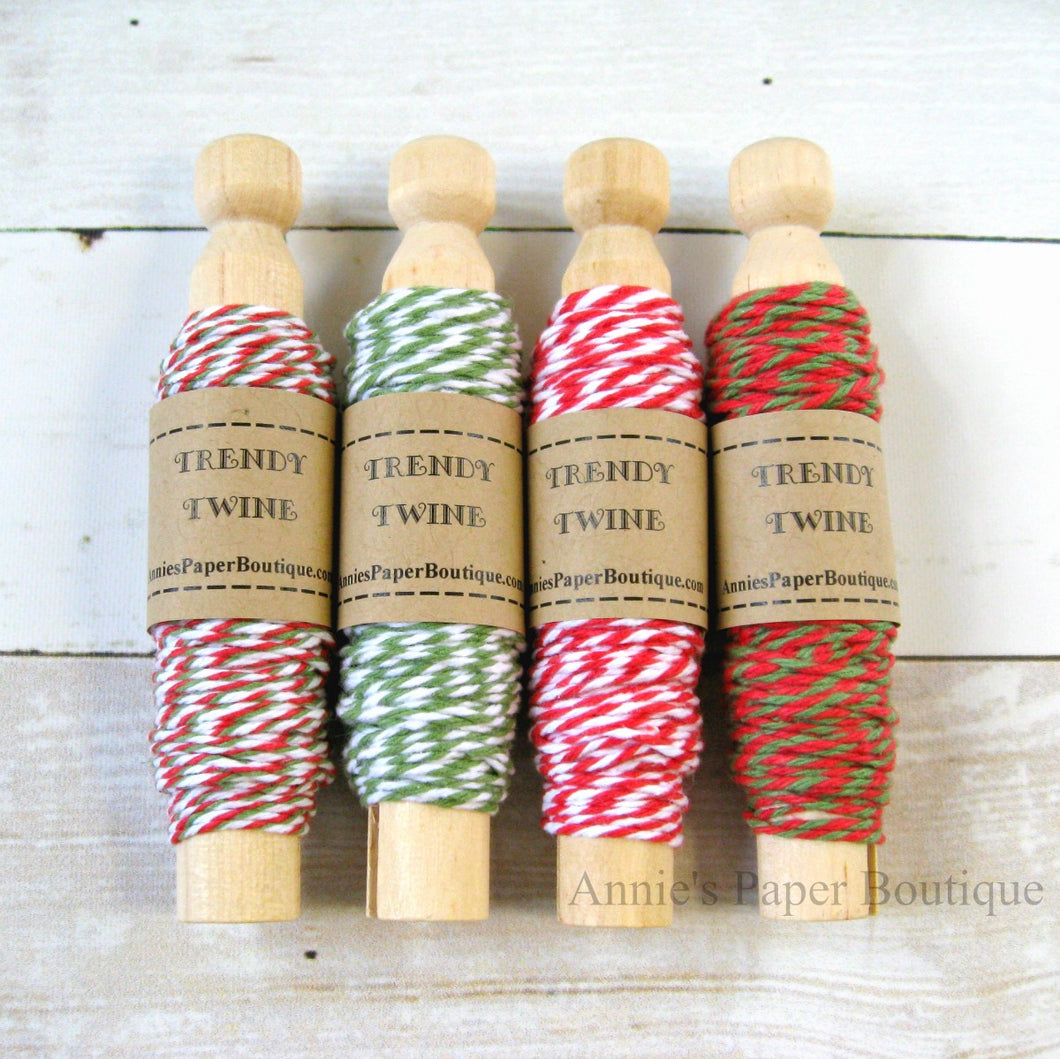 Candy Cane Trendy Bakers Twine Sampler