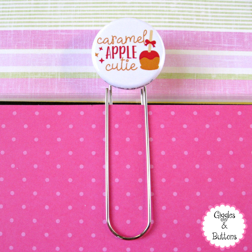 Caramel Apple Cutie Button Paper Clip