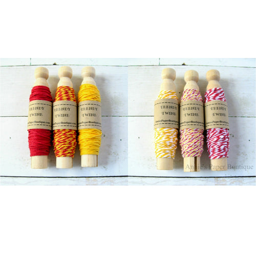 Cherry Lemonade + Lemon Peppermint Trendy Bakers Twine Sampler Bundle