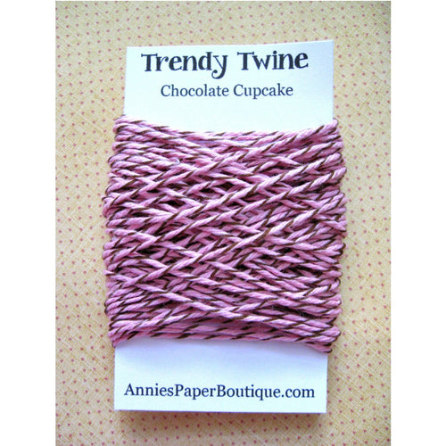 Chocolate Cupcake Trendy Bakers Twine Mini - Light Pink & Brown