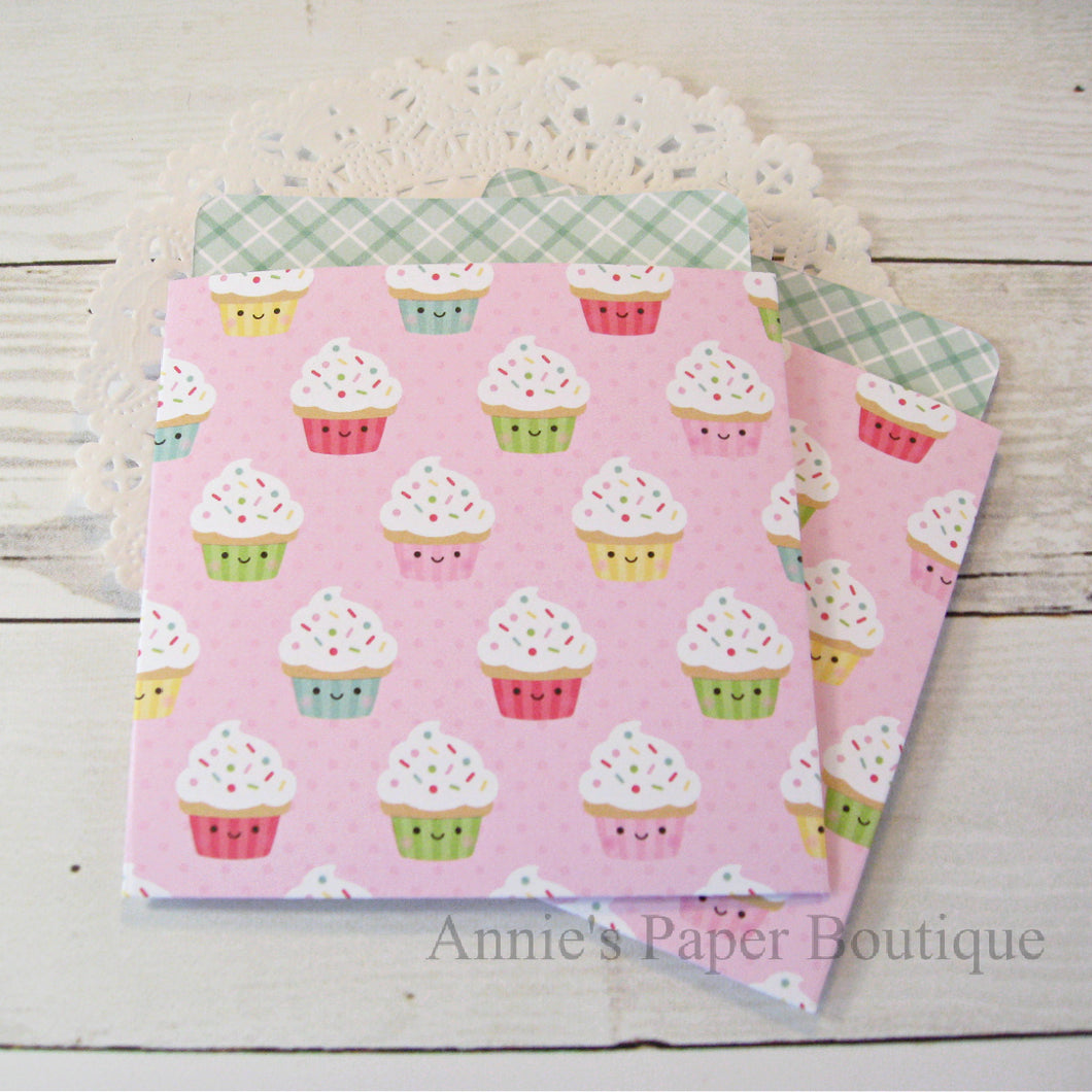 Cupcake Cuties Library Pockets
