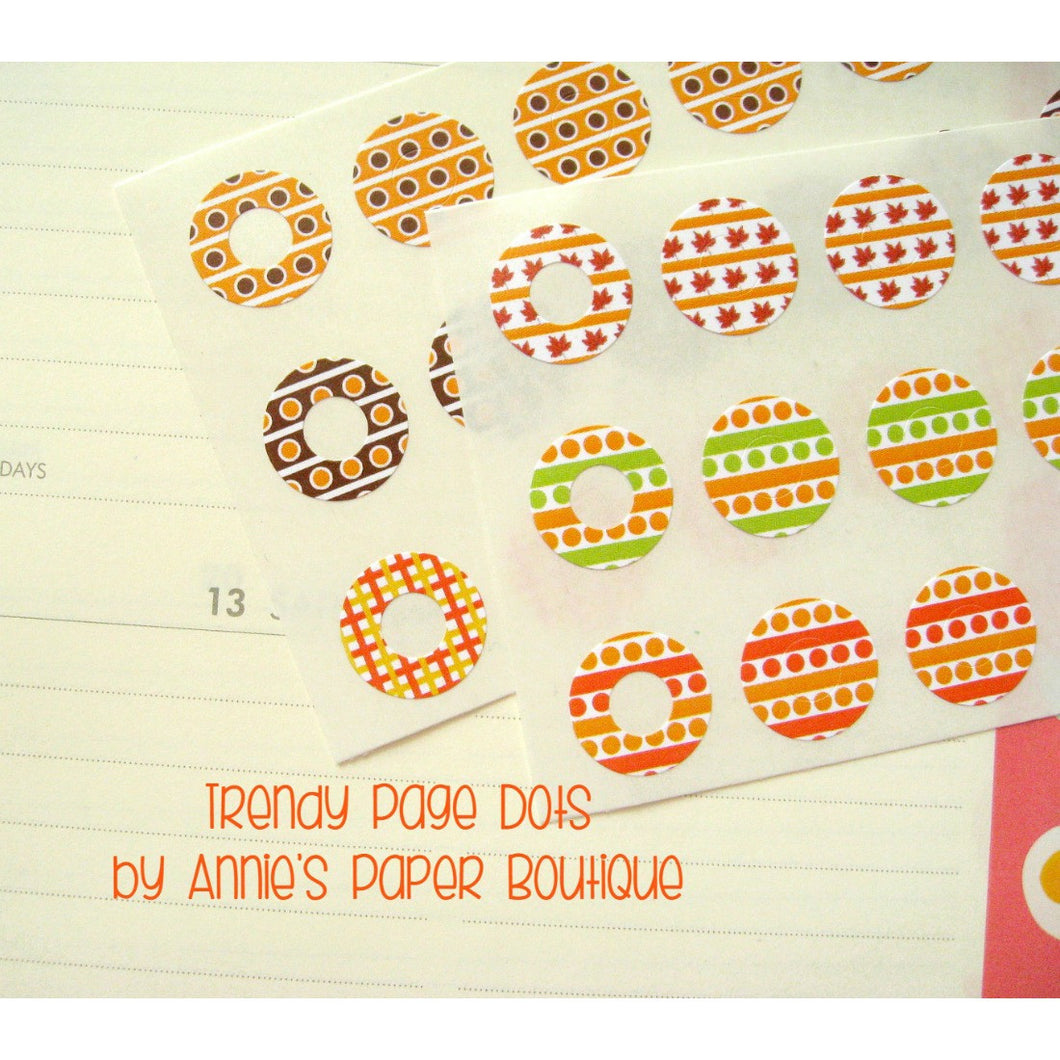 Festive Fall Trendy Page Dots™