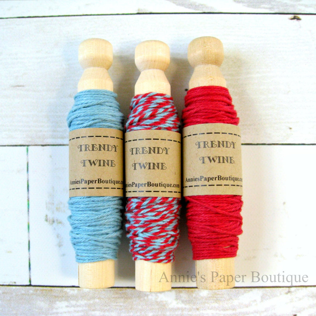Frosted Cranberry Trendy Bakers Twine Sampler