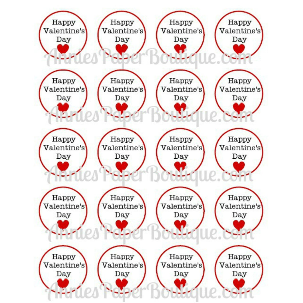 Happy Valentine's Day Print & Punch Tags