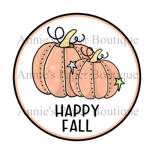 Happy Fall Pumpkins Print and Punch Tags