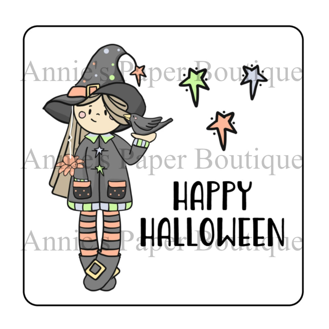 Happy Halloween Cute Witch - Printable Tags