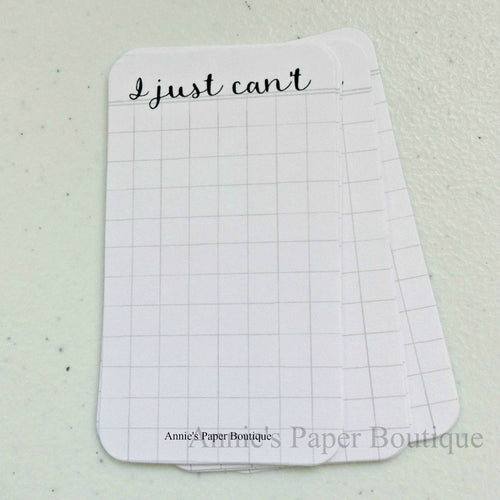 I Just Can't Journaling Cards