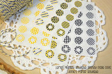Yellow and Black Trendy Page Dot Reinforcement Stickers