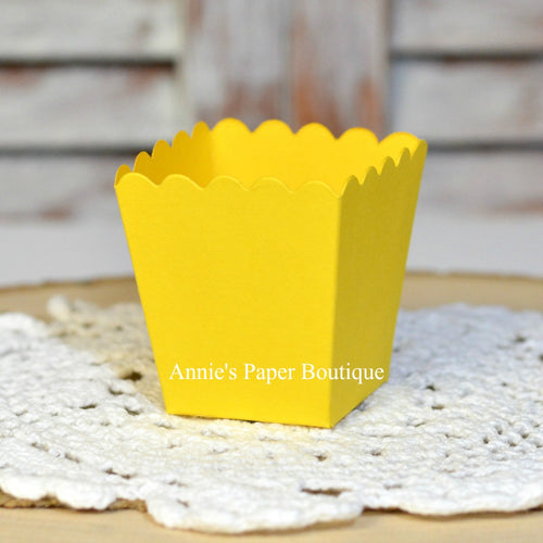 Lemon Yellow Mini Popcorn Box