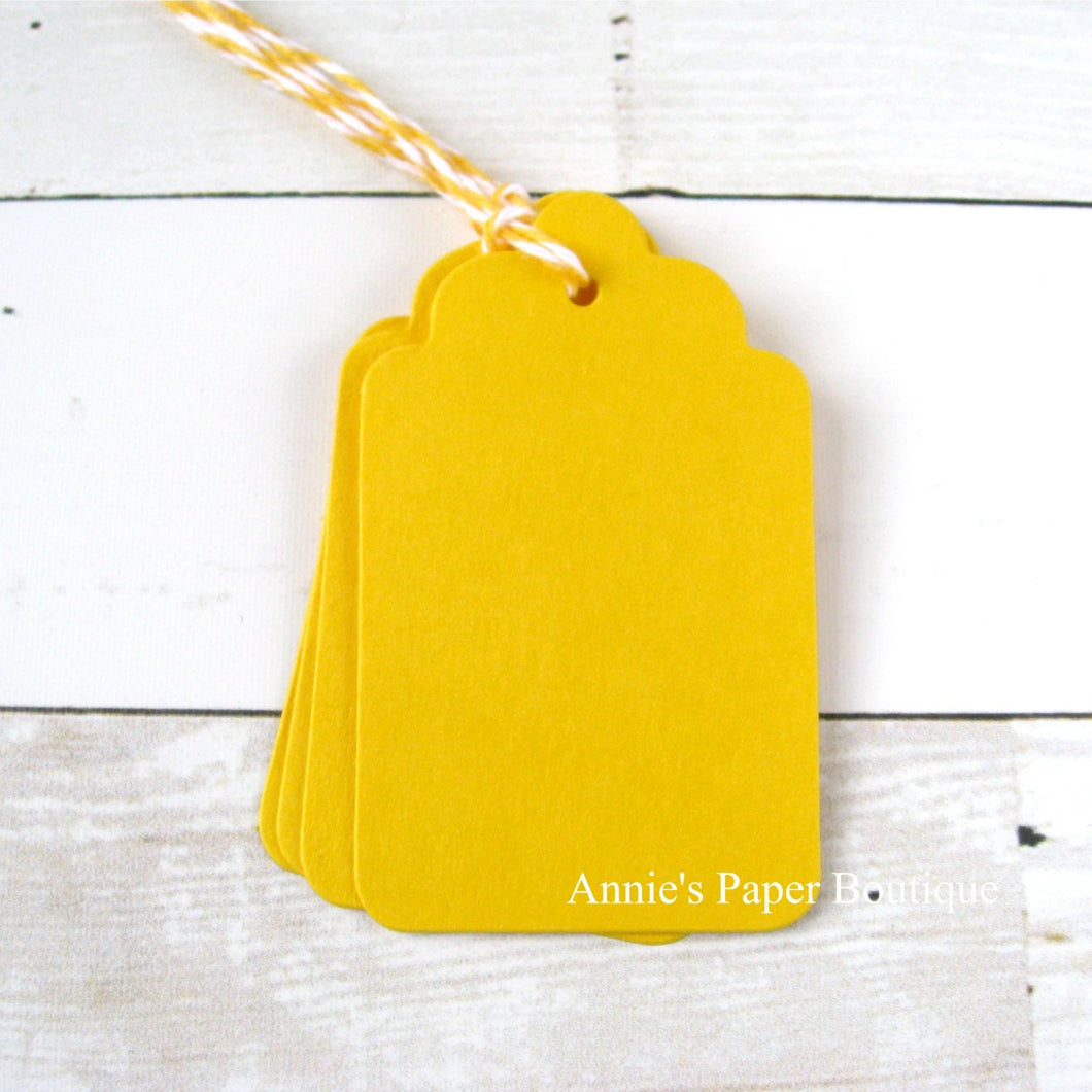 Lemon Scallop Tags with Lemon Tart Trendy Twine
