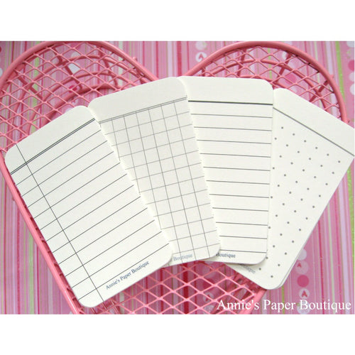Natural Journaling Cards - Composition, Grid, Lined, Dot Grid