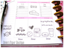 Annie's Paper Boutique stamps in the Happy Planner