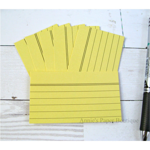 Pineapple Yellow Mini Index Cards