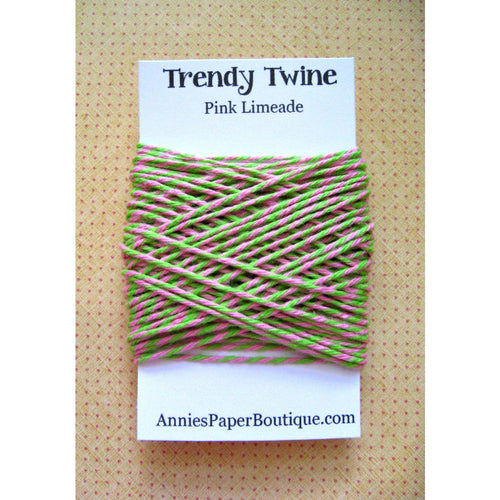 Pink and Lime Green Trendy Bakers Twine Mini