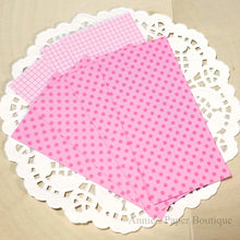 Pink Polka Dot Grid Candy Wrapper Kit