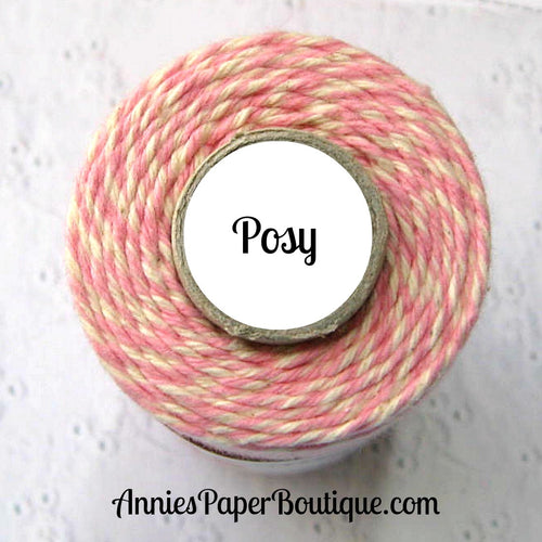 Pink and Natural White Trendy Bakers Twine