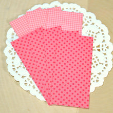 Red Polka Dot Grid Candy Wrapper Kit ~ 12 Bags & 84 Wrappers