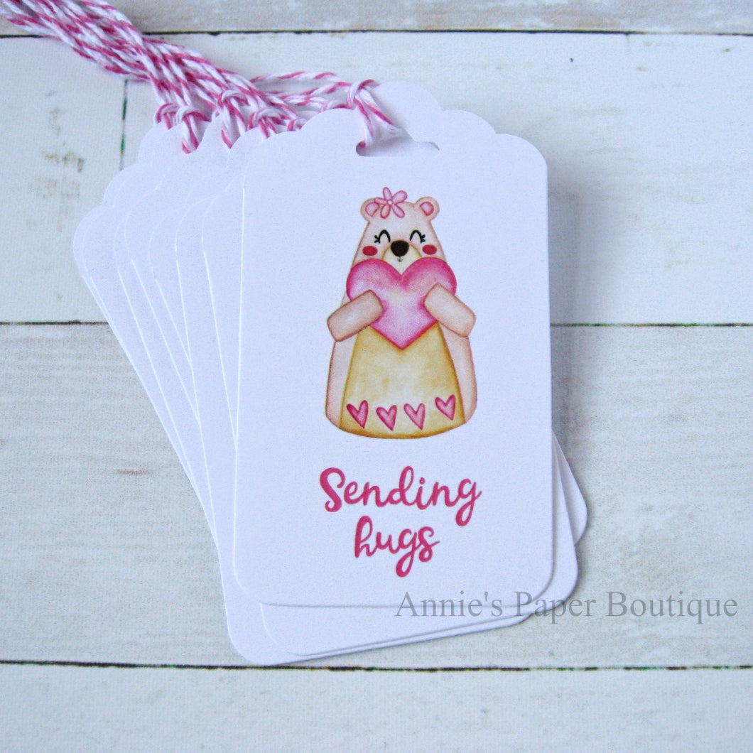 Sending Hugs Bear Gift Tags