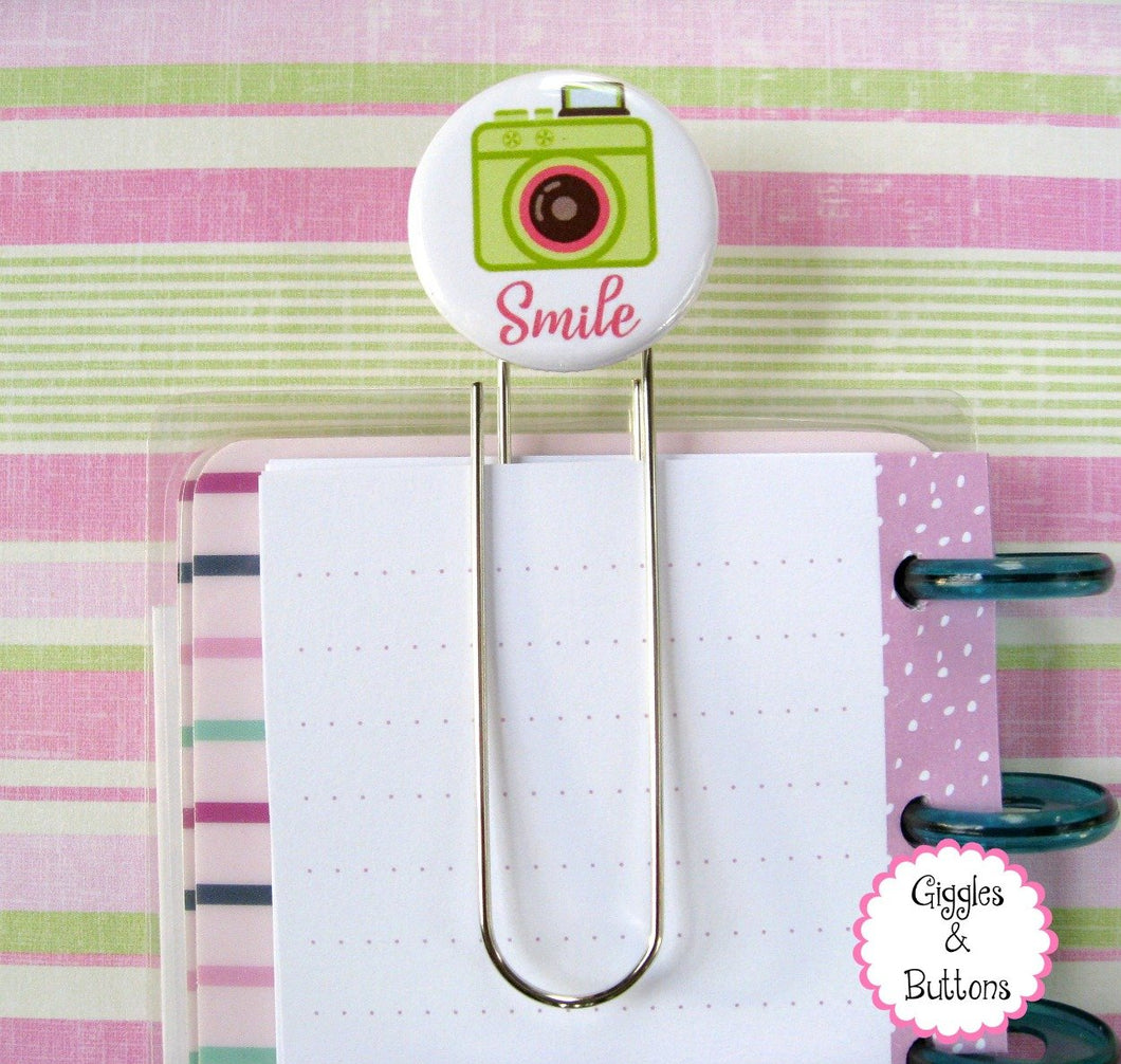 Smile Camera - Button Paper Clip