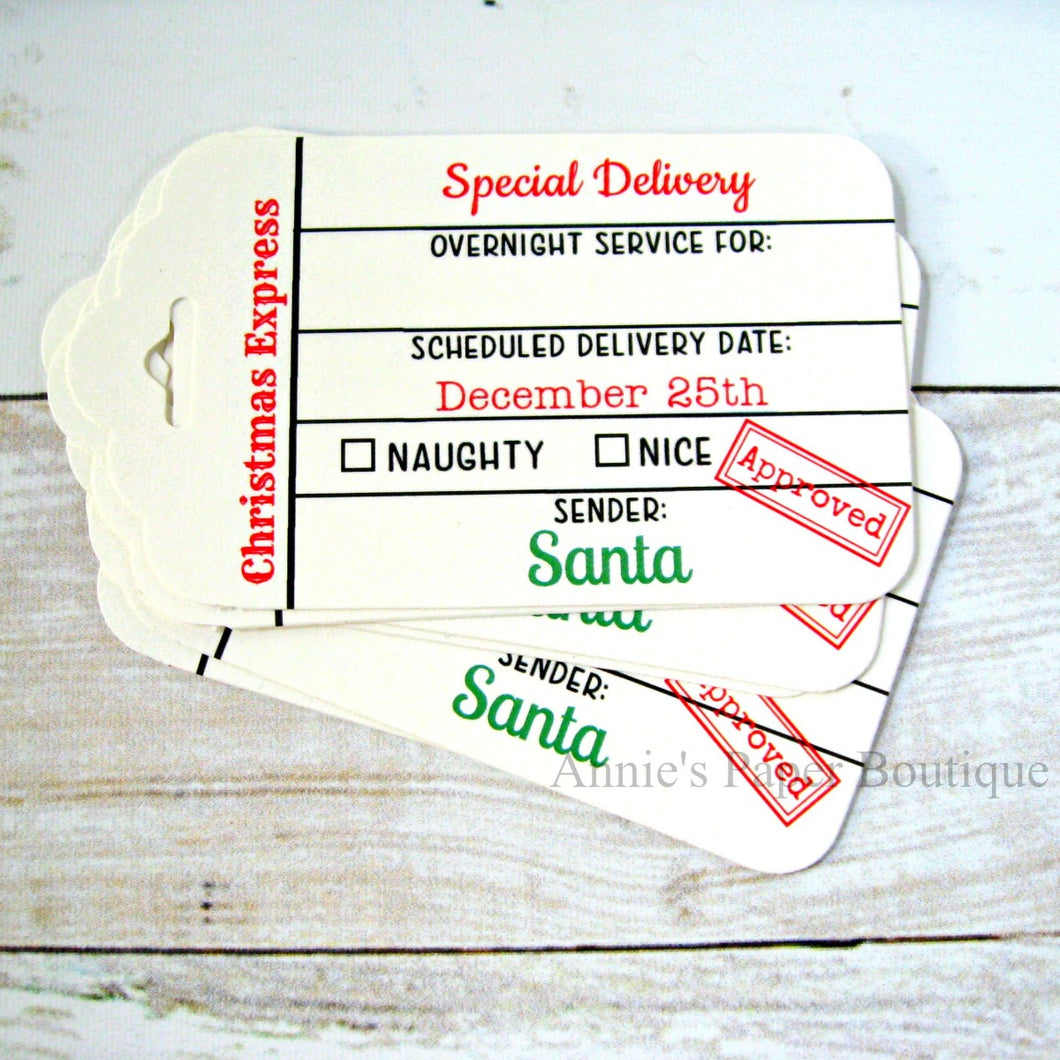 Special Delivery Christmas Express Tags
