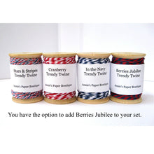 Stars & Stripes Petites with Berries Jubilee Trendy Bakers Twine
