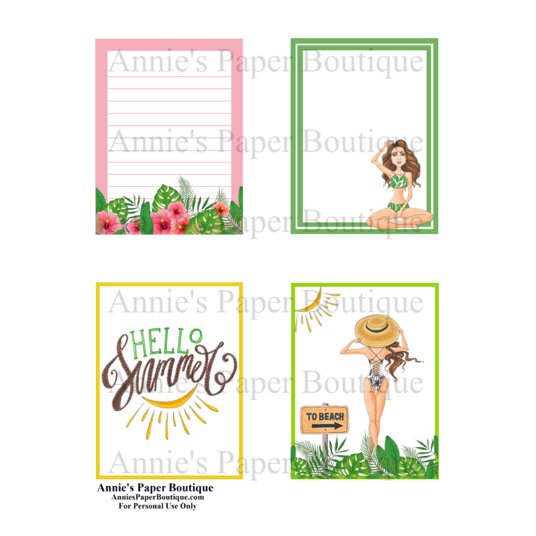 Summertime 3x4 Printable Cards
