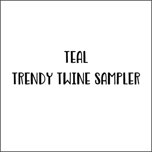 Teal Trendy Bakers Twine Sampler - Only Available til Sept. 30th