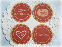 Vintage Love Print & Punch Tags