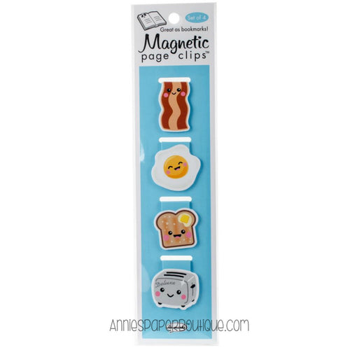 Breakfast Magnetic Page Clips - Bacon, Eggs, Toast, Toaster