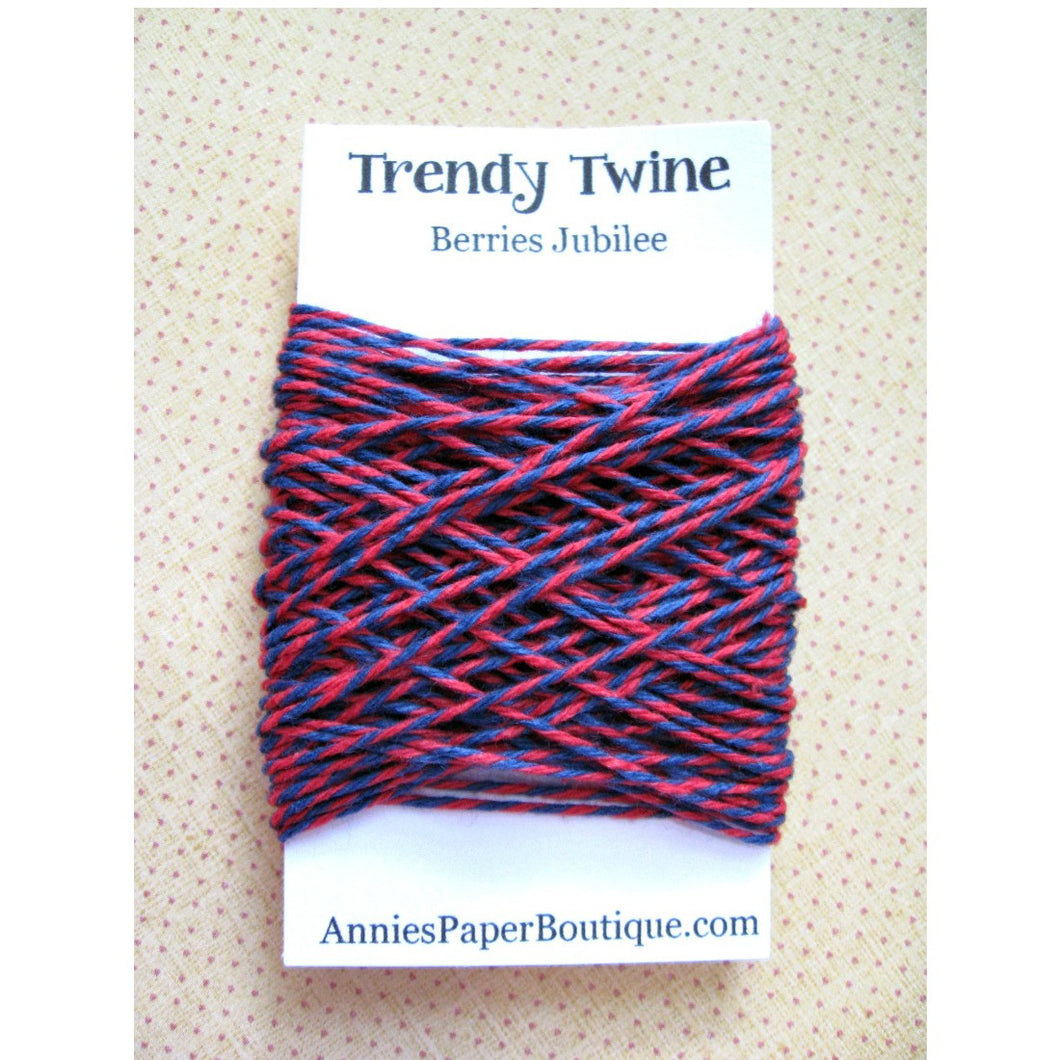 Berries Jubilee Trendy Bakers Twine Mini - Navy Blue and Red