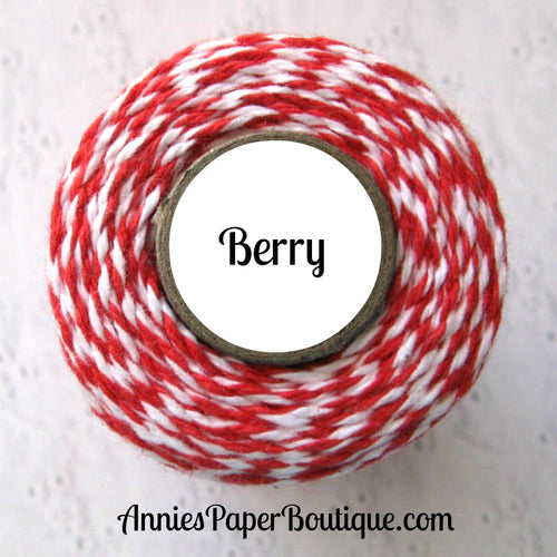 Berry Trendy Bakers Twine - Red & White