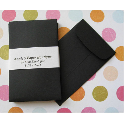 Black Coin Envelopes, Mini