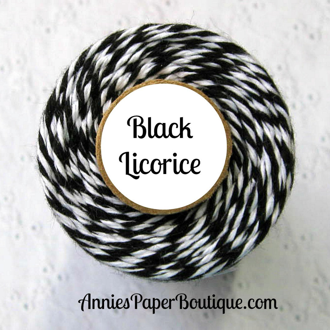 Black Licorice Trendy Bakers Twine - Black & White