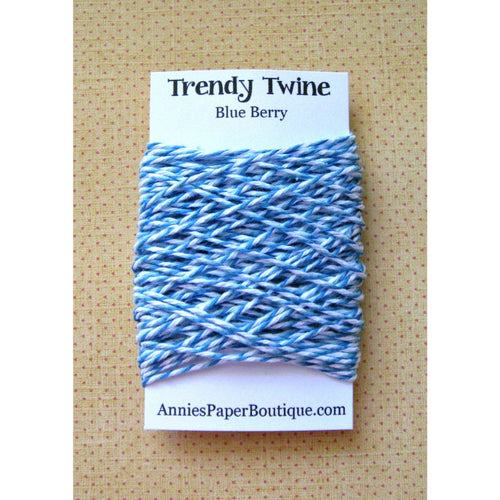 Blue Berry Trendy Bakers Twine Mini - Blue, Light Blue, & White