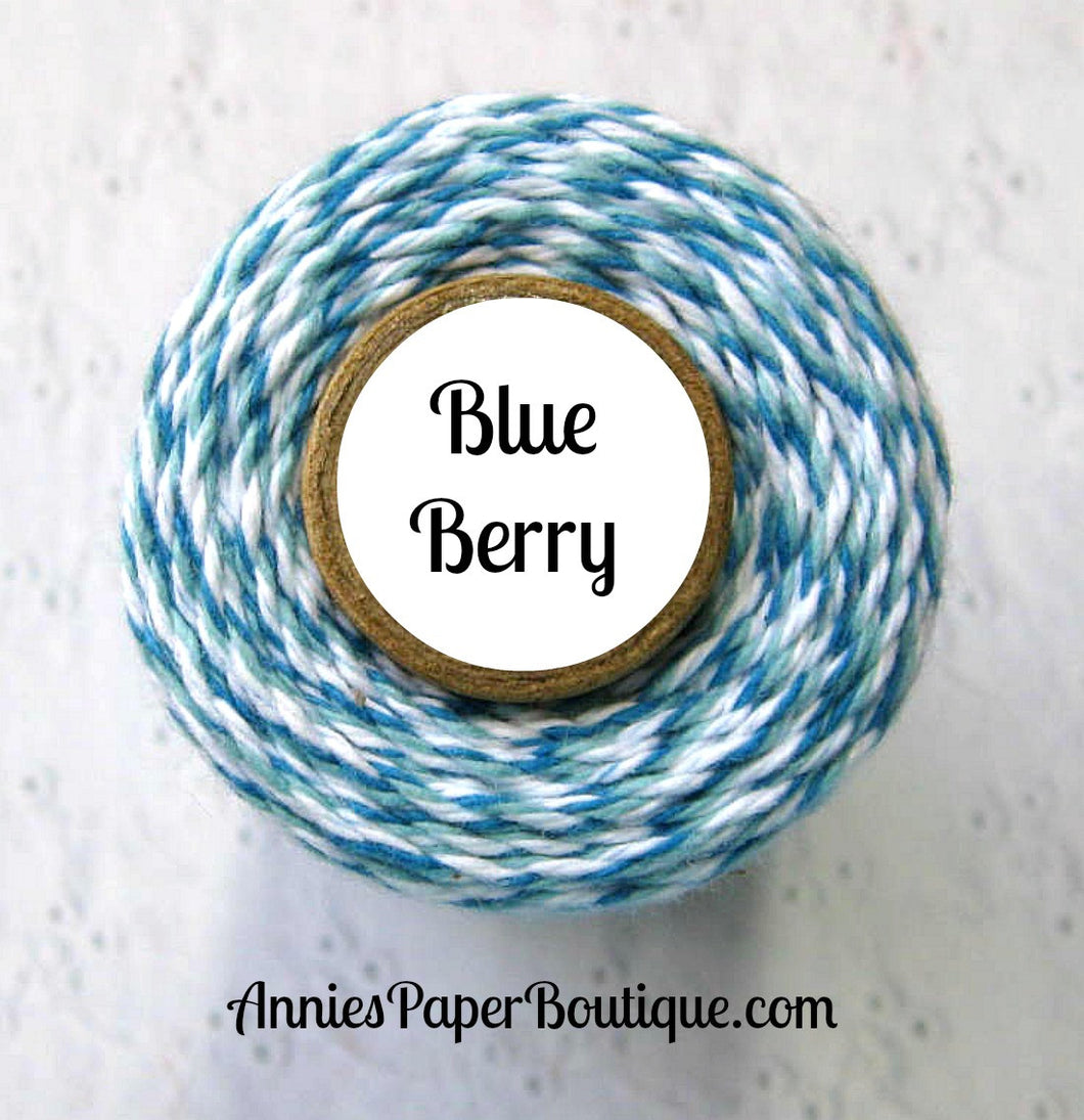 Blue Berry Trendy Bakers Twine - Blue, Light Blue, & White