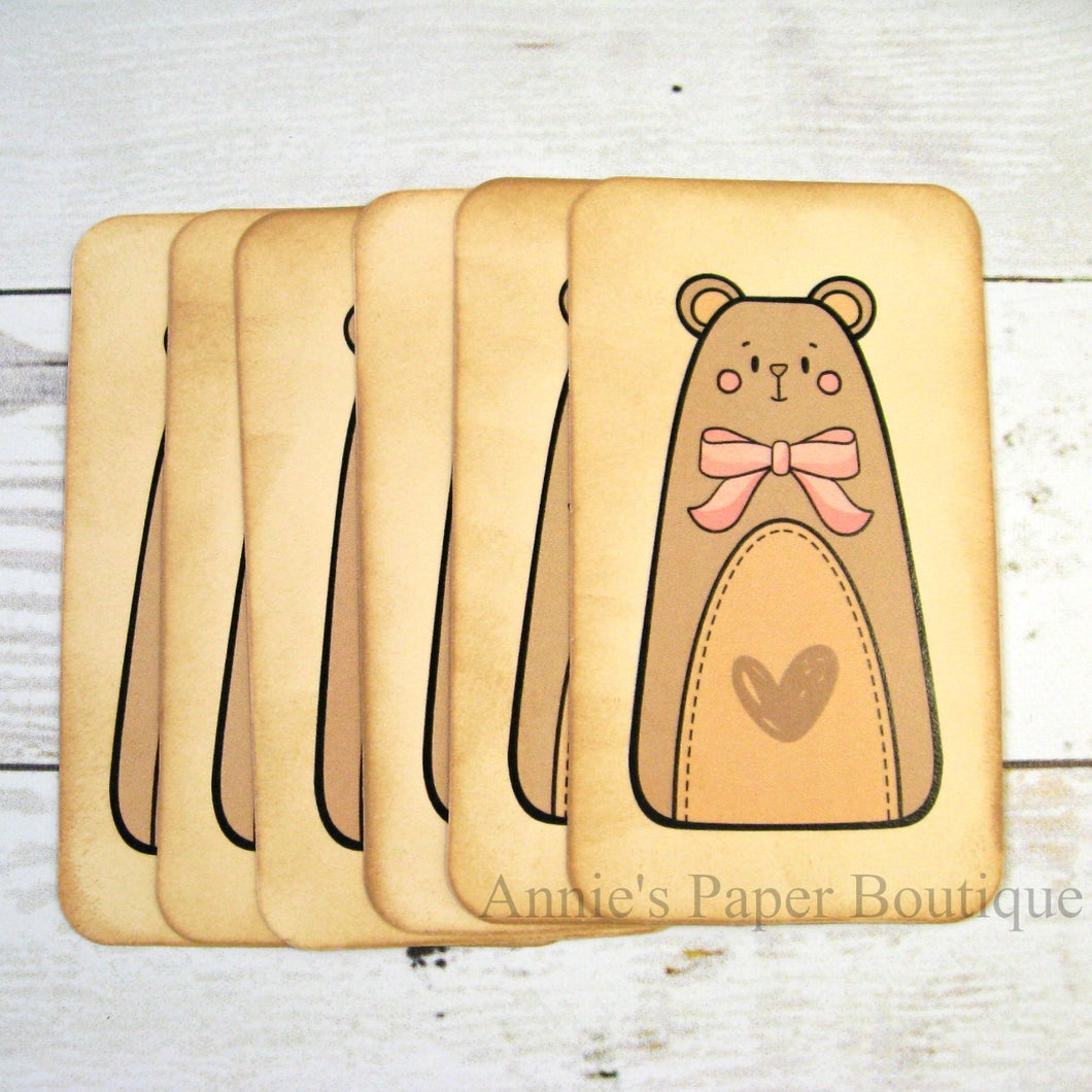 Country Bear Vintage Inspired Tags