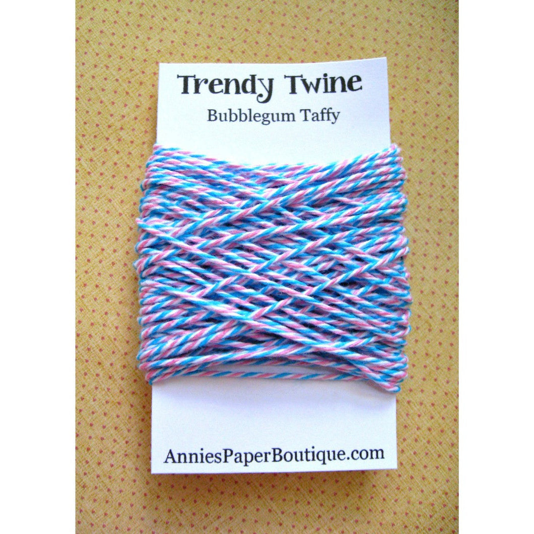 Bubblegum Taffy Trendy Bakers Twine Mini - Aqua Blue, White, and Pink