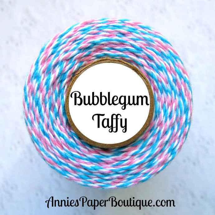 Bubblegum Taffy Trendy Bakers Twine - Aqua Blue, White, & Pink