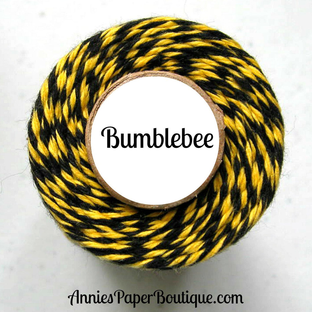 Bumblebee Trendy Bakers Twine - Black & Yellow