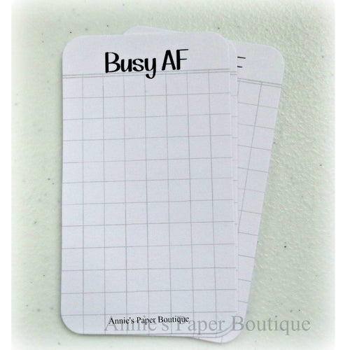 Busy AF journaling cards